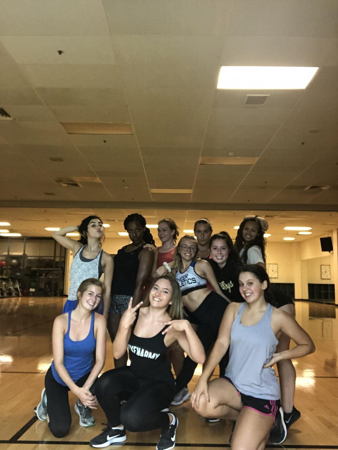 Sophie Acosta and her class finish up a Vixen workout. (Photo courtesy Sophie Acosta)