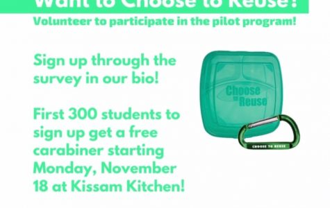 VSG and Campus Dining launch 'Choose to Reuse' program