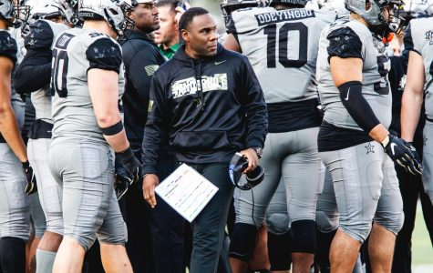 Coach Derek Mason and the Commodores face LSU in 2019. (Hustler Multimedia/Hunter Long)