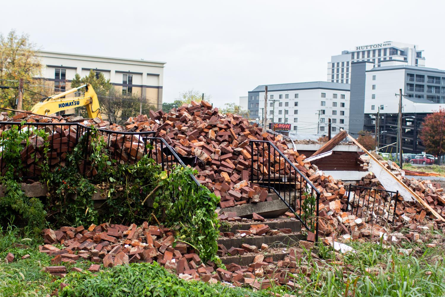 The remains of the Manuel Cuevas house in Midtown, which was torn down in order to build graduate student housing.