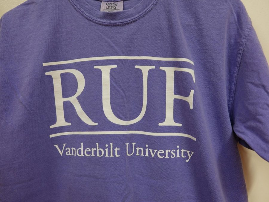 R.U.F.'s distinct pastel t-shirts are sported by student members of the organization around campus.