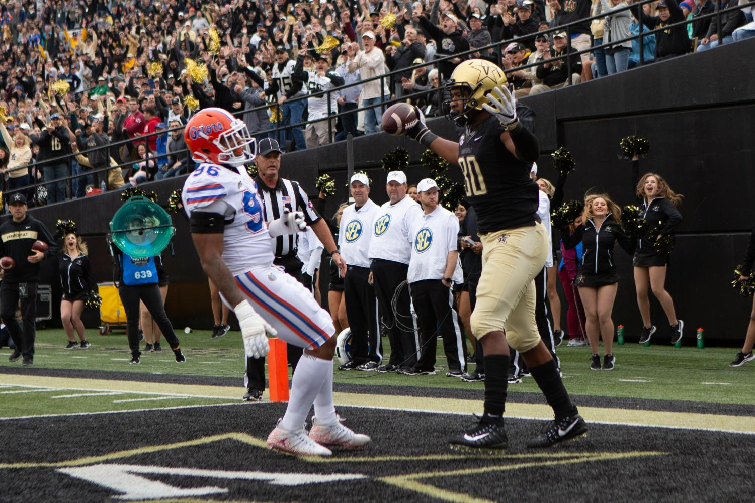 Vanderbilt hosts Florida on October 13, 2018.