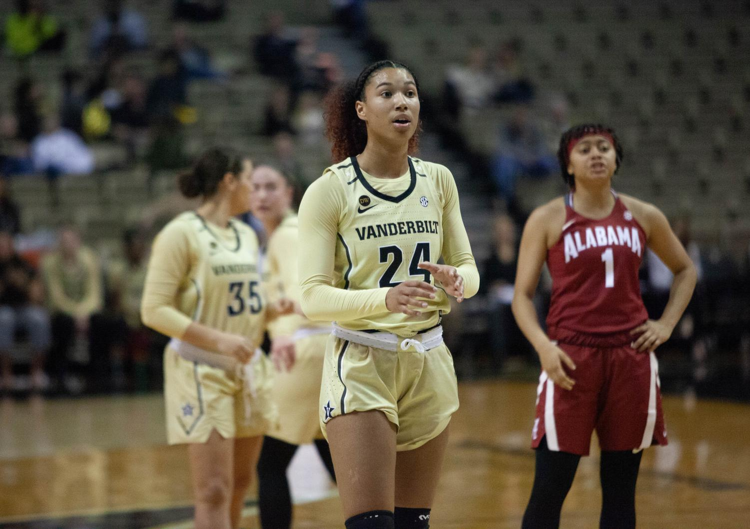 Autumn Newby and the Commodores face Alabama on February 21, 2019.