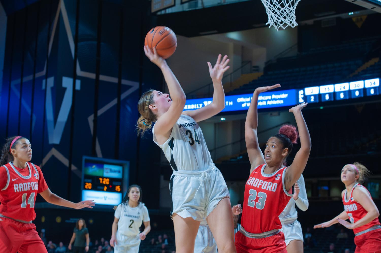 Vanderbilt women's basketball defeats Radford 80-46 on Friday night in Memorial Gym