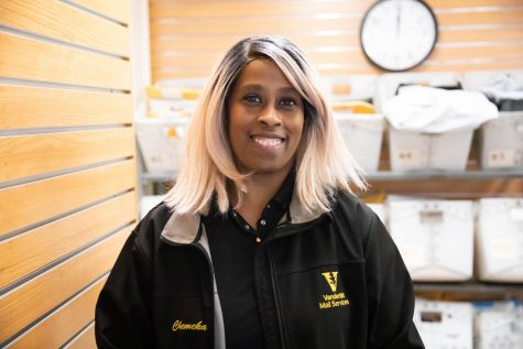 Long-time Vanderbilt employee Chemeka Daughtdrill has earned her reputation as a smiling face in a crowded mailroom.