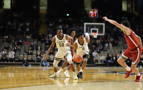 Saben Lee (0) drives to the basket in Vanderbilt's 77-62 loss to Alabama.
