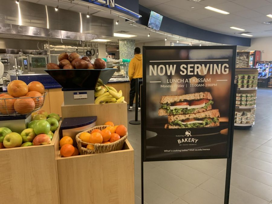 A+sign+stands+in+Kissam+Kitchen+announcing+lunch+at+Kissam.