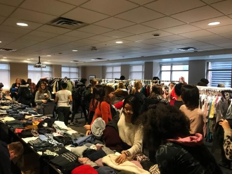 The VSG Environmental Committee's Thrift Shop is an example of how students and staff can get involved with green activities on campus.