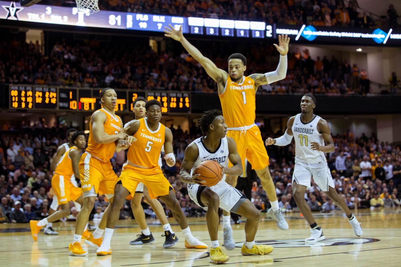 Vanderbilt falls to Tennessee 88-83 in Memorial Gymnasium on January 23, 2019.