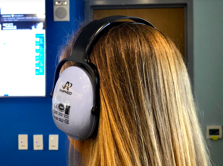 Noise cancelling earmuffs  // Photo courtesy of  Claire Barnett