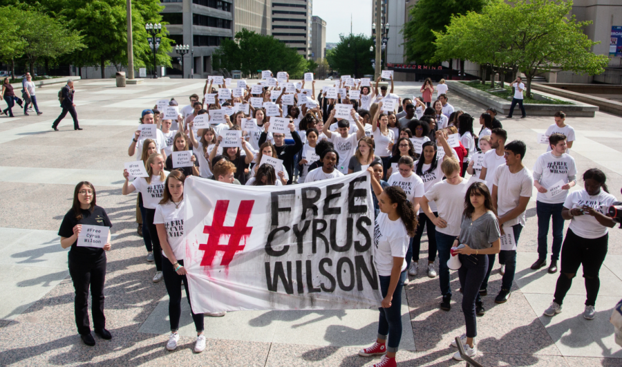 After 100+ Vanderbilt students were denied entry to Cyrus Wilson's April 17 parole hearing because it was at capacity, the group led by Vanderbilt Prison Project marched to the TN Capitol Building in downtown Nashville.
