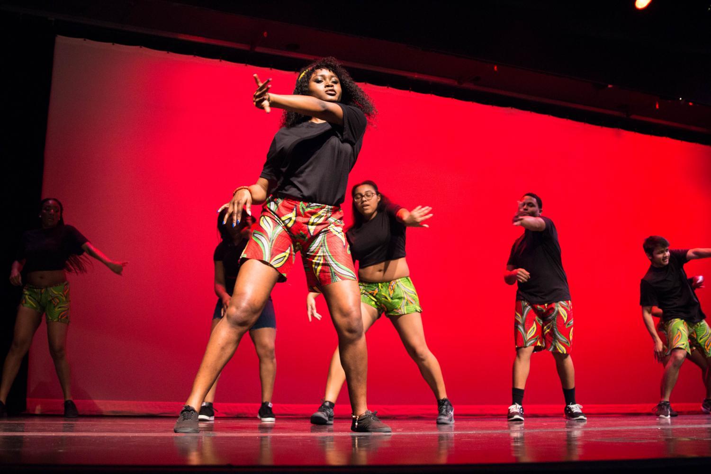 Students performing at last year's Harambee Showcase, held Feb. 10, 2019.