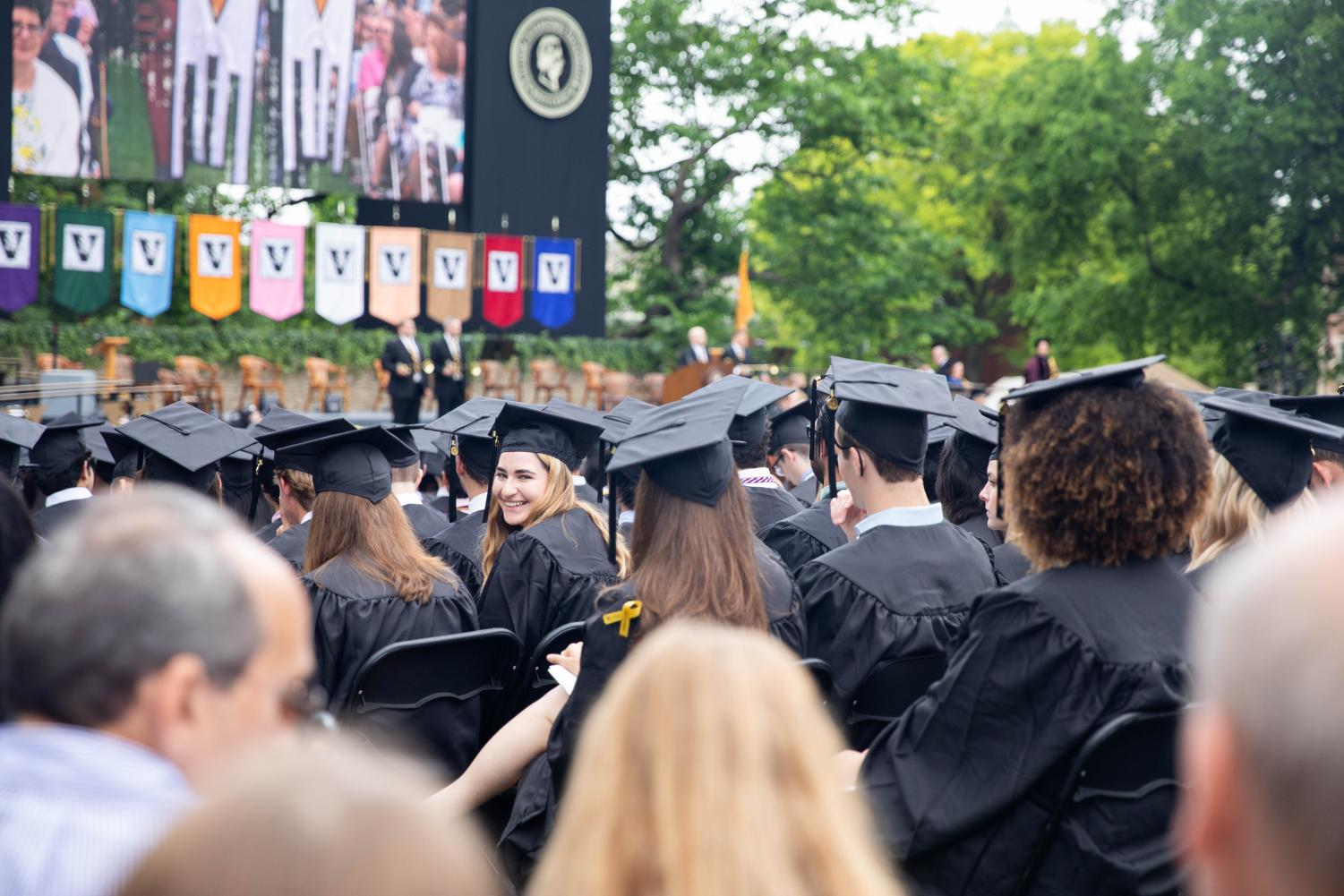 Students gather for commencement May 2019.