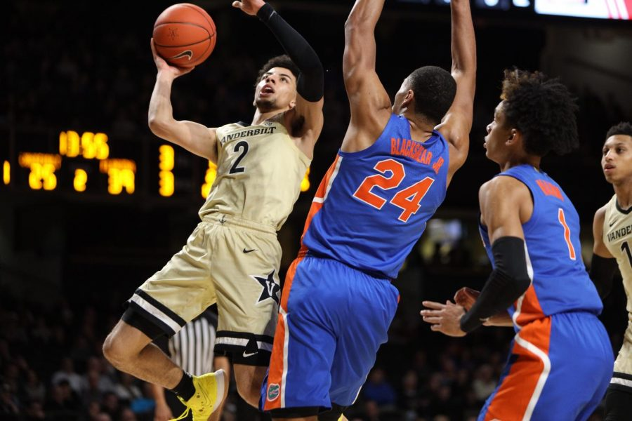 Scotty+Pippen+Jr.+%282%29+goes+up+for+a+lay-up+during+Vanderbilt%27s+61-55+loss+to+the+Florida+Gators.+
