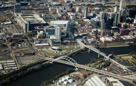 Downtown Nashville from above. Vanderbilt has acquired 38 properties in Nashville since March 2010, according to Metro records.