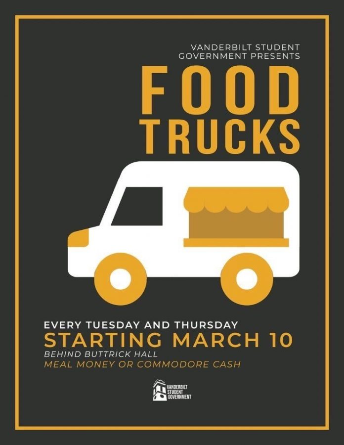 Exciting new food options will be parked behind Buttrick Mar. 10