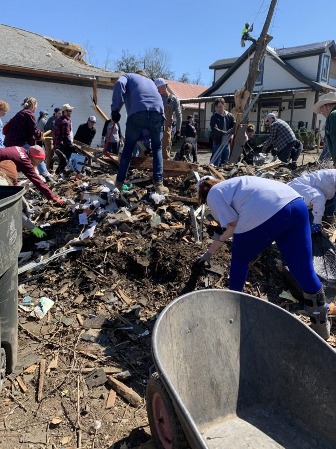 The Nashville community is coming together to rebuild after the tornadoes Mar. 3, and Vanderbilt students can give back. (Hustler Staff/ Eva Durchholz)