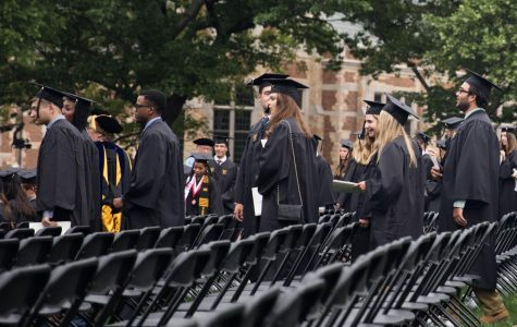 Commencement ceremony held on Alumni lawn. (Former Hustler Multimedia/Emily Gonçalves)