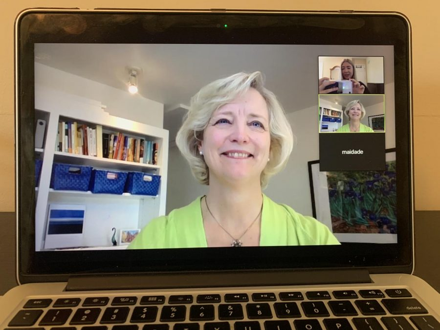 A Zoom call Tuesday with Interim Chancellor Susan Wente, Hustler News Editor Eva Durchholz and Manager of Media Relations Damon Maida.