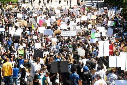 Protestors at the 'I Will Breathe Movement