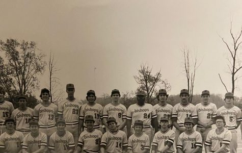 Ohio Wesleyan University: 1981 baseball team. From left to right, Tim Corbin (#14) is the sixth player in the front row (Photo courtesy Kevin Colbert)