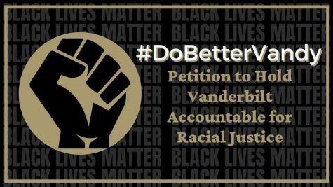This photo, from the change.org petition to hold Vanderbilt accountable for racial justice, was designed by rising junior Shivani Sharma, one of over thirty collaborators that developed the petition. This image was circulated with the petition, which was posted to change.org on June 3. (Screenshot from Hold Vanderbilt Accountable for Racial Justice petition on change.org/Jessica Barker)