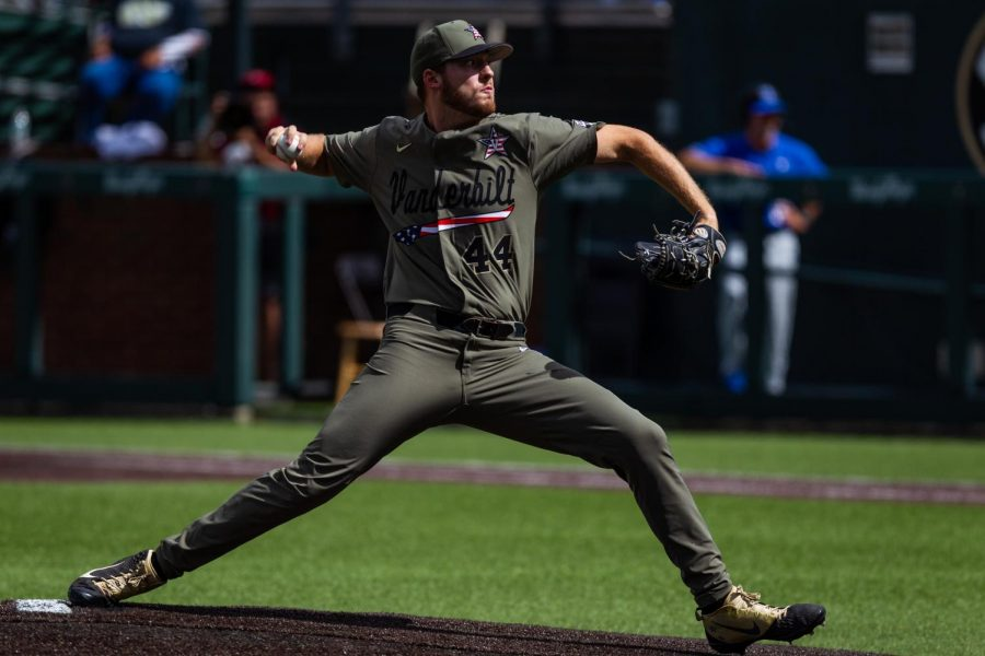 Mason Hickman pitching in the postseason against Duke (Hustler Multimedia/Hunter Long)