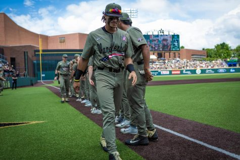 Austin Martin takes his spot in line at Hawkins Field. (Hustler Multimedia/Hunter Long)