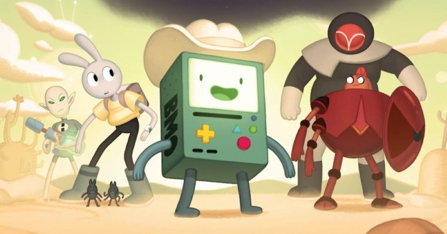 BMO+saddles+up+for+a+hero%27s+quest+in+%22Adventure+Time%3A+Distant+Lands%22