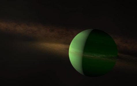 Artist rendering of newly-discovered exoplanet AU Mic b.