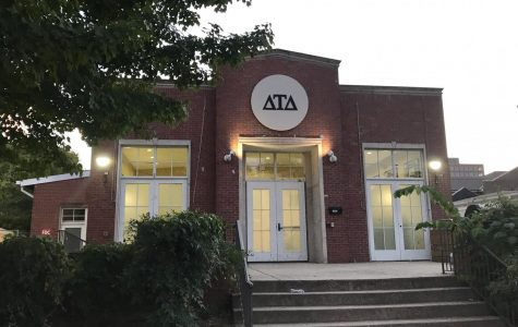The Delta Tau Delta fraternity house on Greek Row. (Hustler Multimedia/Mattigan Kelly)