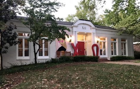 The Chi Omega sorority house on Greek Row.