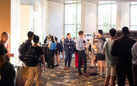 Students gather at the September 2019 Vanderbilt Research Fair to share what they learned through Vanderbilt University's Summer Research Program (VUSRP). Similar in-person events will come with plenty more restrictions in the fall as per the university's July 17 update on