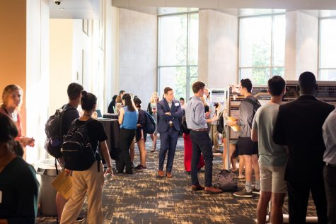 Students gather at the September 2019 Vanderbilt Research Fair to share what they learned through Vanderbilt University