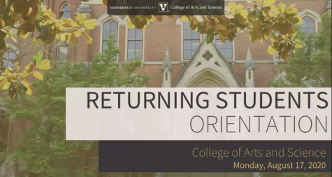 Title slide of the virtual student orientation.