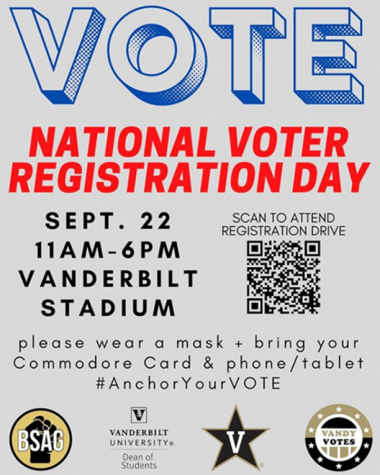 Newfound Black Student-Athlete Group to hold registration drive at Vanderbilt Stadium on National Voter Registration Day