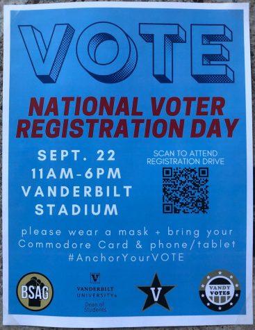 Voter registration poster