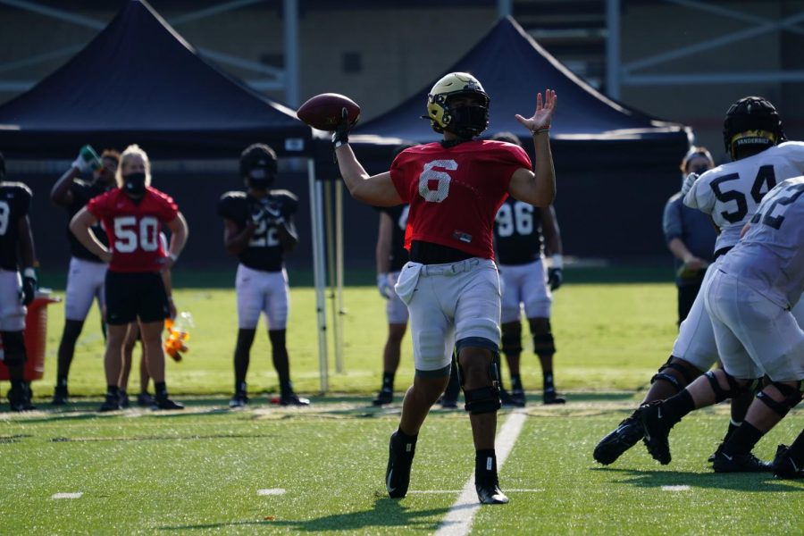 Jeremy Moussa practicing for Vanderbilt. (Vanderbilt Athletics)