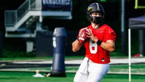 Ken Seals practicing for Vanderbilt. (Vanderbilt Athletics)