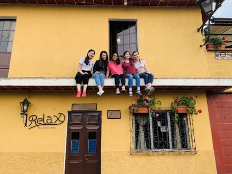 Sophomore Marina Wang and company in Guatemala