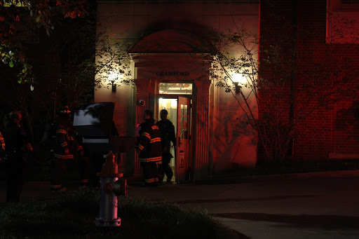 Metro Nashville Fire Department enters Crawford House on night of Sept. 27, 2020. (Hustler Multimedia/Geena Han)