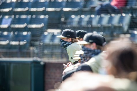 Vanderbilt baseball competes in its 2020 Black and Gold Series. (Hustler Multimedia/Hunter Long)