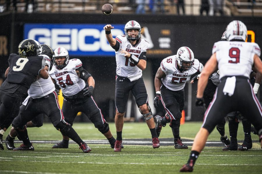 Vanderbilt falls to 0-3 with a 41-7 loss to South Carolina on Oct. 10, 2020. (Hustler Multimedia/Hunter Long)