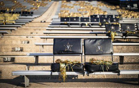Vanderbilt Stadium awaits the arrival of students for the football team's game vs. LSU on October 3, 2020. (Hustler Multimedia/Hunter Long)