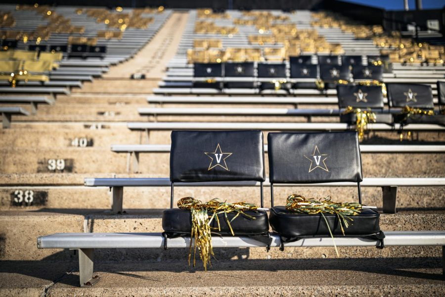 Vanderbilt Stadium awaits the arrival of students for the football team's game vs. LSU on October 3, 2020. (Hustler Multimedia/Hunter Long)