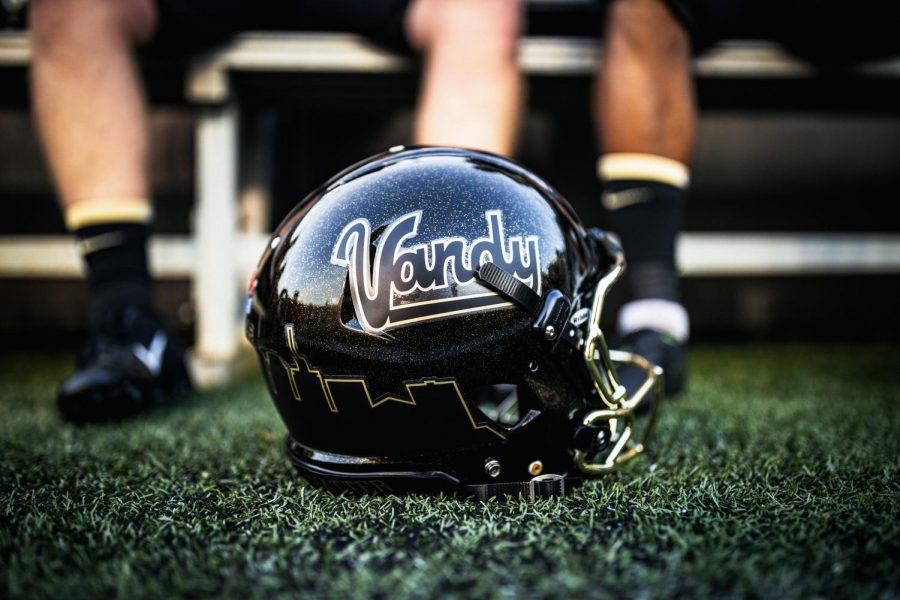 Vanderbilt football debuted retro Vandy helmets in Week Two against LSU. (Hustler Multimedia/Hunter Long)