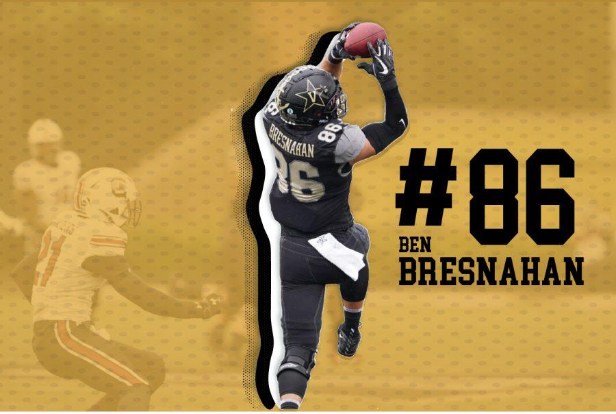 Ben Bresnahan reeling in a pass against South Carolina. (Hustler Communications/Emery Little)