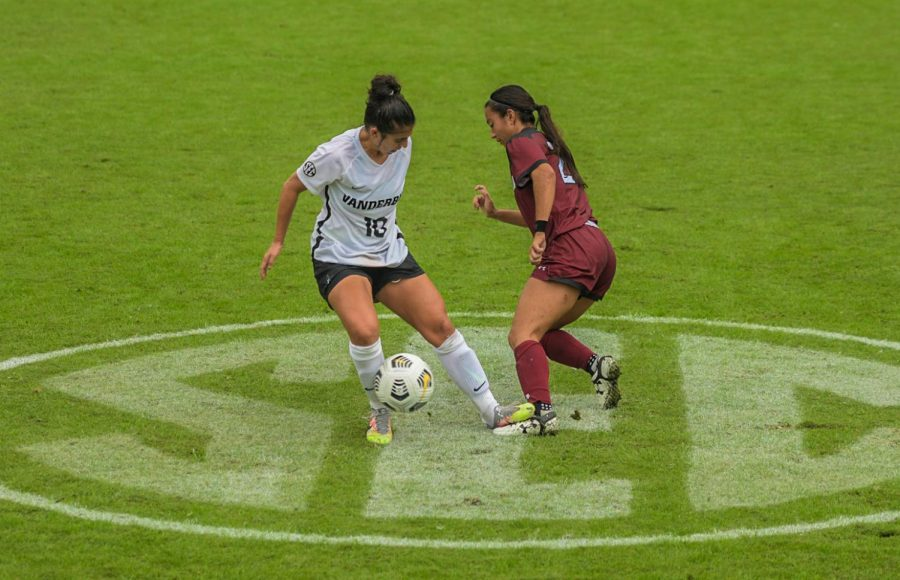 Vanderbilt faced South Carolina on a rainy Sunday in Nashville on Oct. 11. (Hustler Multimedia/Truman McDaniel)