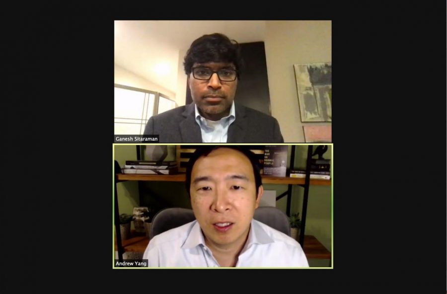Zoom conversation with Andrew Yang