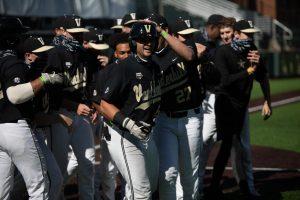 Vanderbilt baseball competes in its 2020 Black and Gold Series. (Hustler Multimedia/Hunter Long)